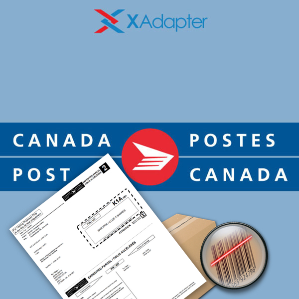 It is a photo of Gratifying Canada Post Container Labels