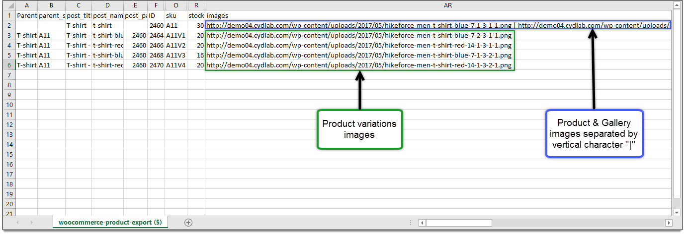 Sample CSV file
