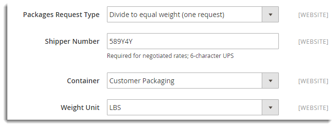 Packages Request Type