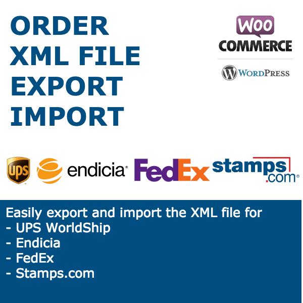 Order XML File Export Import for WooCommerce