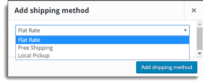 Select a shipping method