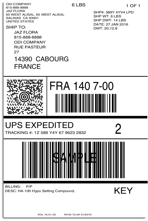 Ups ground label print