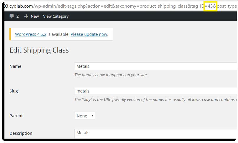 Shipping Class Metal