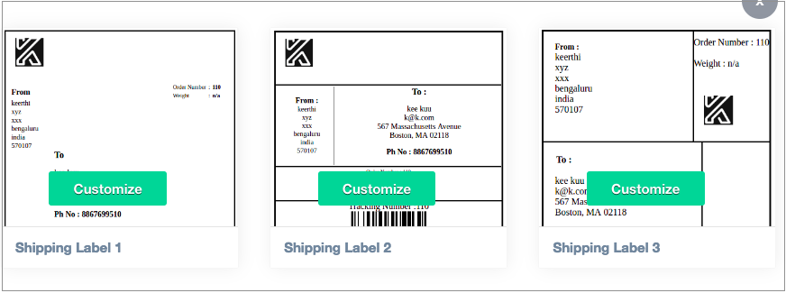 How To Setup Print Invoice Packing Slip Delivery Note Label - Custom shipping label template