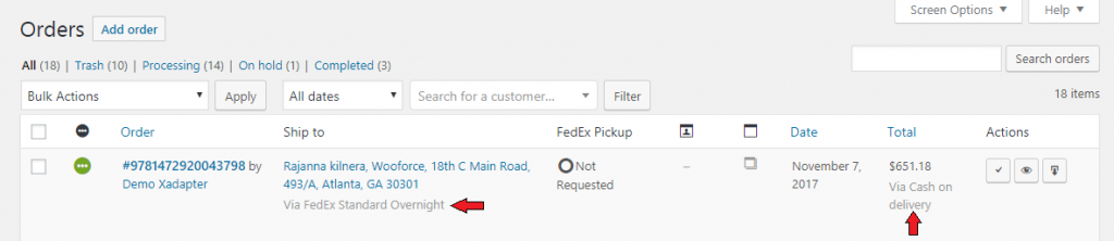 woocommerce services how to add fedex