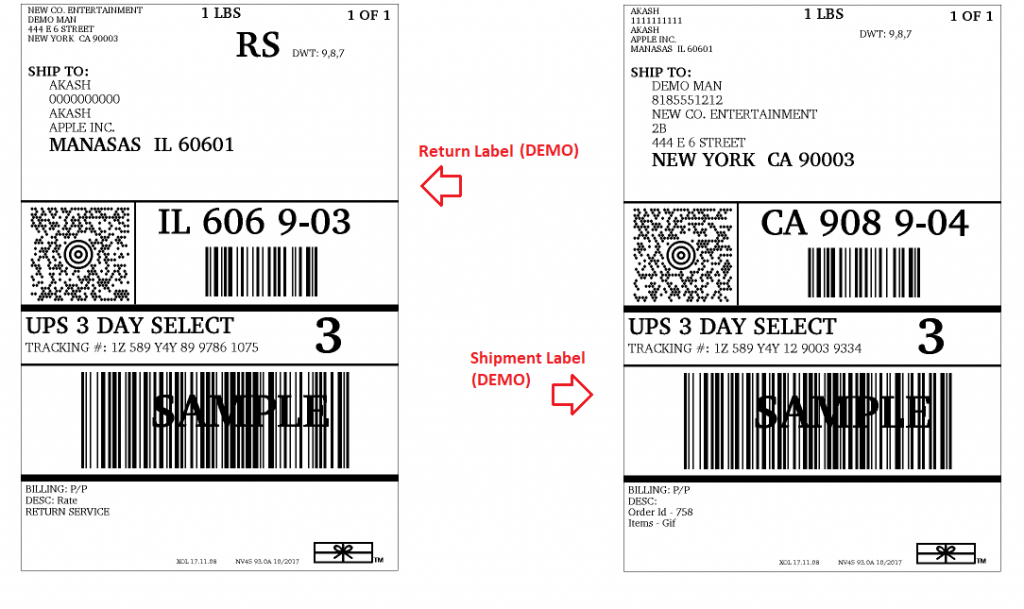 how to create a return shipping label ups
