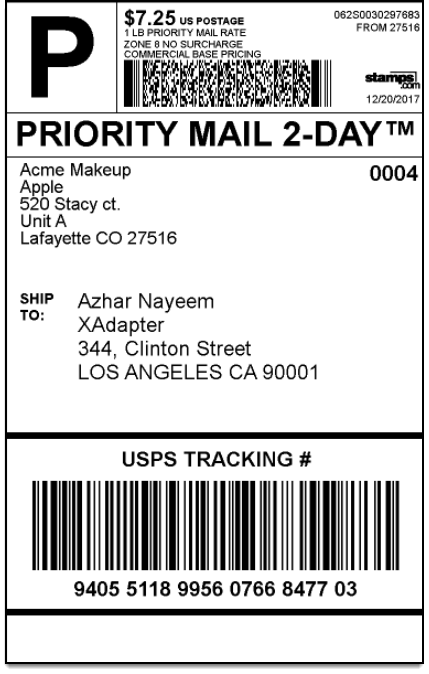 4x6 shipping label template