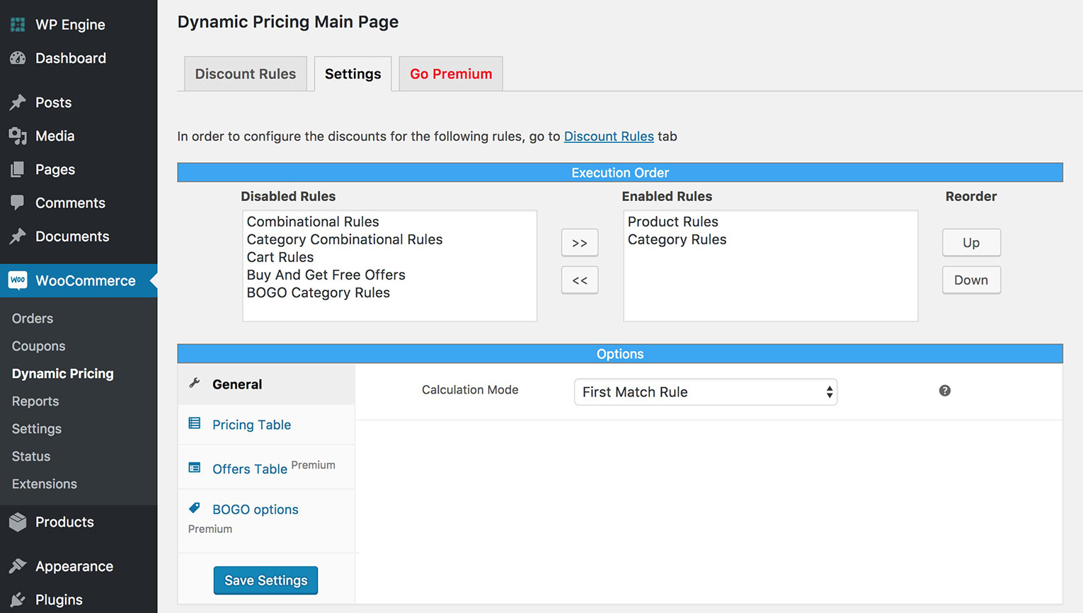 WooCommerce Tables with Dynamic Pricing & Product Discounts