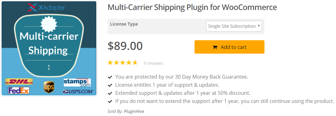 Carrier Shipping Plugin with