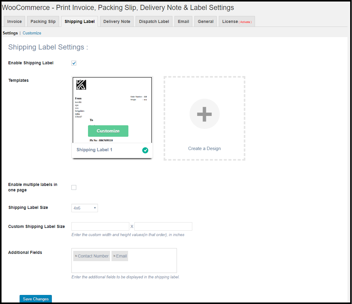 how to print shipping label in woocommerce xadapter
