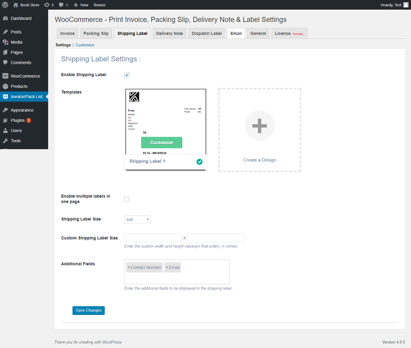 how to set up woocommerce custom shipping label xadapter