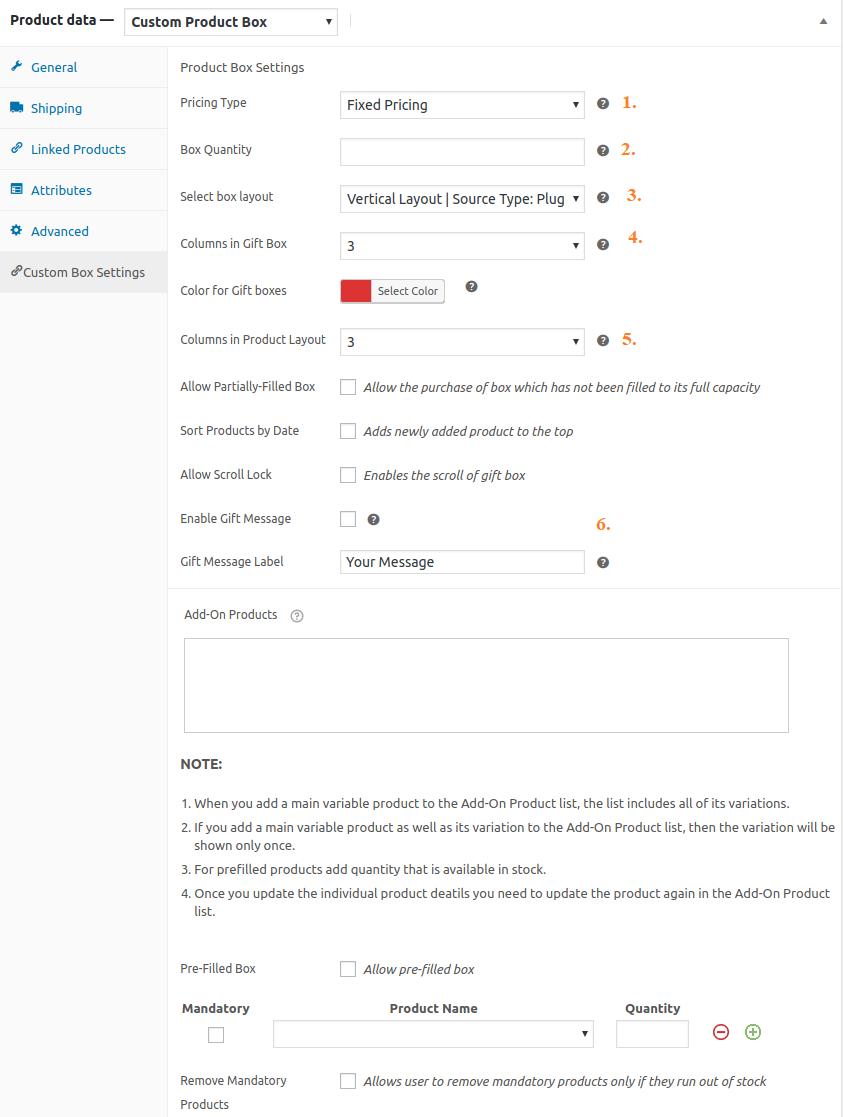 WooCommerce Custom Product Box options