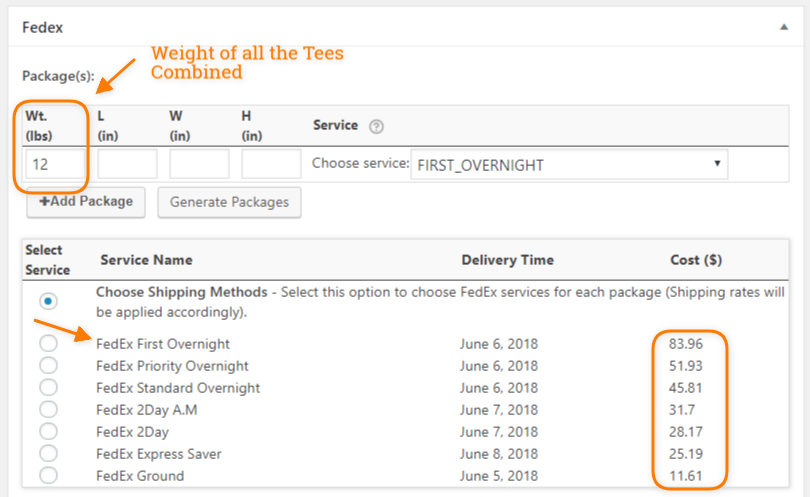Package Created using FedEx plugin