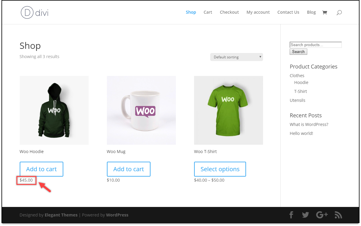Divi - WooCommerce Catalog Mode | Price adjustment for Shop managers