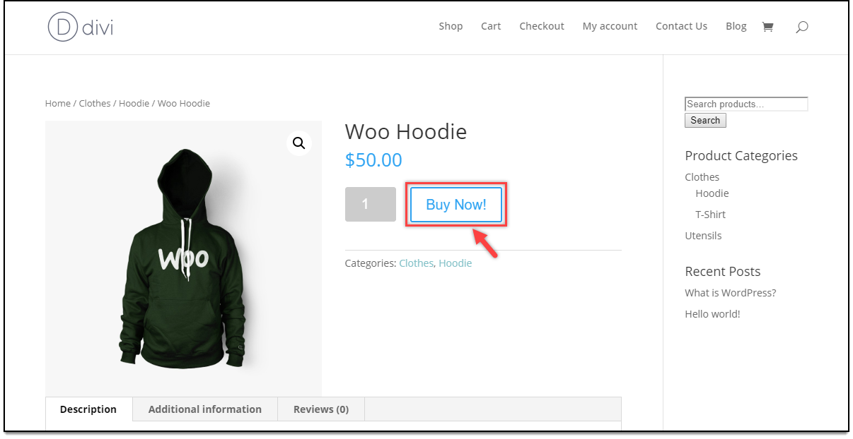 Divi - WooCommerce Catalog Mode | Add to Cart replaced for Customers on the Product page