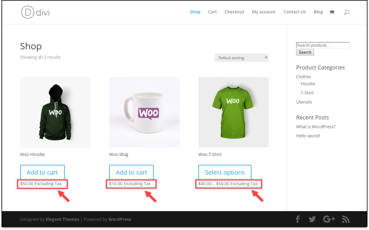 Divi - WooCommerce Catalog Mode | Tax display option for Subscribers